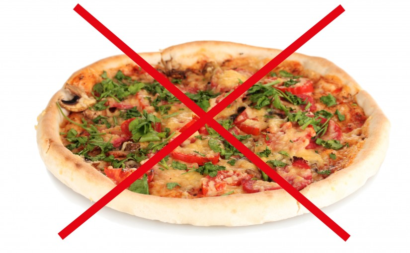 no to pizza